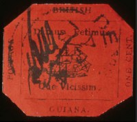 Sale Number 560, Lot Number 374, BRITISH GUIANA, 1856, 1c Black on Magenta (13)