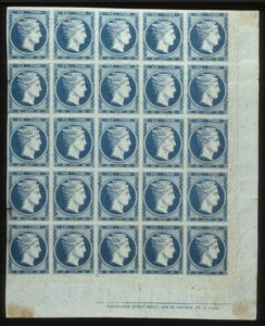 Sale Number 560, Lot Number 406, GREECE, 1861, 20L Blue on Bluish (4)