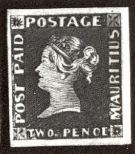 "Sale Number 560, Lot Number 417, -----, 1848 2p Dark Blue, ""Penoe"" Error, Earliest Impression (4d)"