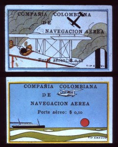 Sale Number 692, Lot Number 546A, COLOMBIA, 1920, 10c Mulicolored (C2-C10)