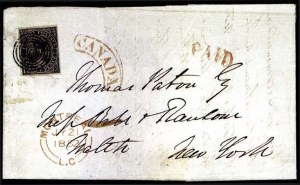 Sale Number 776, Lot Number 14, CANADA, 1851, 12p Black on Laid Paper (3; SG 4)