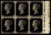 Sale Number 776, Lot Number 33, GREAT BRITAIN, 1840, 1p Black, V.R. Official (O1; SG V1)