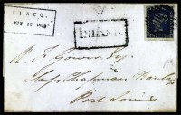 Sale Number 776, Lot Number 38, MAURITIUS, 1848, 2p Indigo Blue on Bluish Paper, Earliest Impression (4; SG 4)