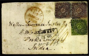 Sale Number 776, Lot Number 51, NOVA SCOTIA, 1851, 1sh Cold Violet (7; SG 7)