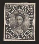 Sale Number 824, Lot Number 462, 1851, 12p Black, Laid (3; SG 4)