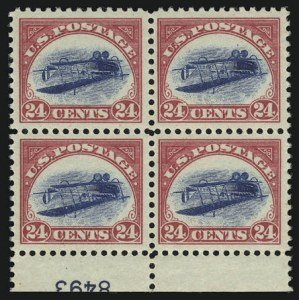 Sale Number 901, Lot Number 1, 24c Carmine Rose & Blue, Center Inverted (C3a)