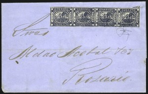 "Sale Number 957, Lot Number 106, 1859, 1p ("" To rs"" ) Blue (8)"
