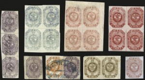 Sale Number 957, Lot Number 168, 1859, 2-1/2c-1p First Issue Study Collection (1-7)