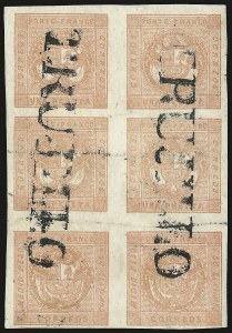 Sale Number 957, Lot Number 256, 1858, Medio Peso Rose Red Error (5)