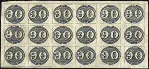 Sale Number 957, Lot Number 32, 1843, 90r Black, Intermediate Impression (3)