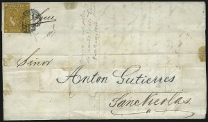 "Sale Number 957, Lot Number 64, 1858, 5p ("" Cinco Ps"" ) Olive Yellow (5b)"