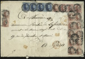 Sale Number 987, Lot Number 2405, BELGIUM, 1849-54, 20c Blue, 40c Carmine Rose (5, 7-8)