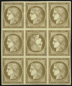 Sale Number 989, Lot Number 291, FRANCE, 1849, 10c Bister on Yellowish, Tete-Beche (1d; Yvert 1d)