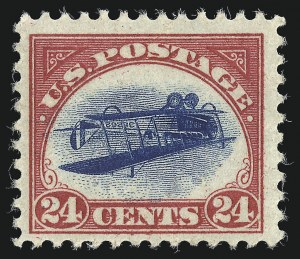Sale Number 1021, Lot Number 514, 24c Carmine Rose & Blue, Center Inverted (C3a)