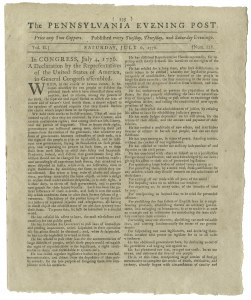 Sale Number 1046, Lot Number 101, The Declaration of Independence