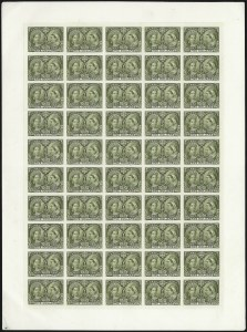 Sale Number 1075, Lot Number 1279, CANADA, 1897, -1/2c-$5.00 Jubilee, Plate Proofs on India (Unitrade 50P-65P)