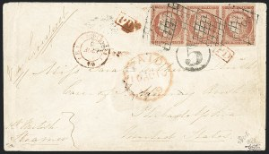 Sale Number 1127, Lot Number 133, FRANCE, 1849, 1fr Dull Vermilion on Yellowish (8 var; Yvert 7b)