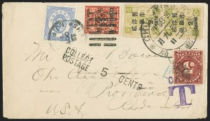 Sale Number 1152, Lot Number 1061, CHINA, 1897, 1c on 3c Red Revenue (78; Chan 87)