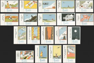 Sale Number 1168, Lot Number 3014, COLOMBIA, Curtiss Aeroplane Co., Promotional Labels
