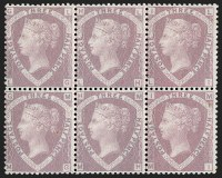 G.B., 1860, 1-1/2p Rosy Mauve on Blued