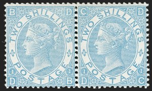 G.B. 1867, 2sh Milky Blue
