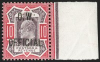 G.B., 1903, 10p Dull Purple & CarmineO.W. Official