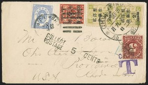 China, 18971c on 3c Red Revenue